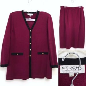 ST JOHN • Vintage 2-Piece Matching Skirt Suit Set